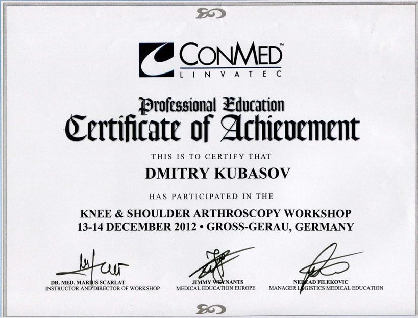 2012-Knee-Shoulder Arthroscopy Workshop Germany