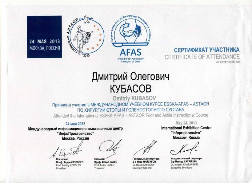 2013-ESSKA-AFAS-ASTAOR-стопа и голеностопный сустав М